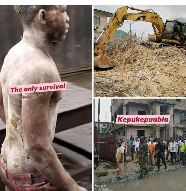 Victims of the Collapsed building in Abia were not workers but prostitutes carriers- Facebook user revealed.