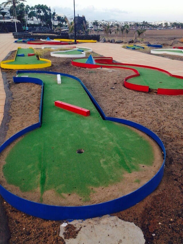 Crazy Golf in Puerto del Carmen, Lanzarote, Spain