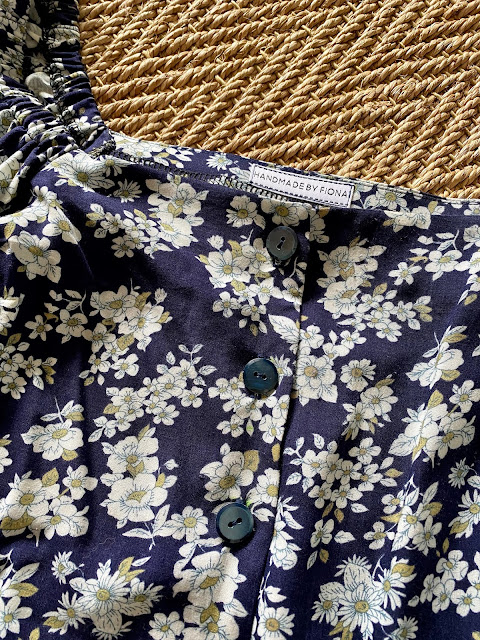 Diary of a Chain Stitcher: Stitch Witch Patterns Tudor Blouse in Floral Rayon Challis from The Fabric Store