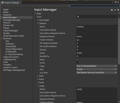Unity Input Manager