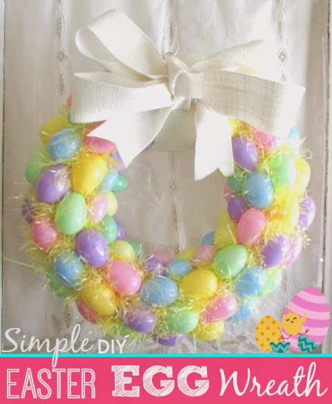 Two Silly Monkeys Easter Basket Wreath: NYC Area Mom Blog: Simple DIY Easter Egg