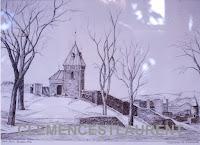 La Porte Kent, Québec (fortifications), encre, 1962 - par Clémence St-Laurent