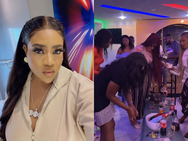 Video Showing What Actress Nkechi Did to 10 Strangers She Invited To Celebrate The Sunday With Her