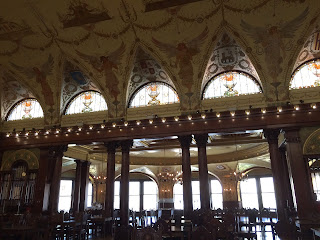 Current photo of the historic dining room at Flagler College