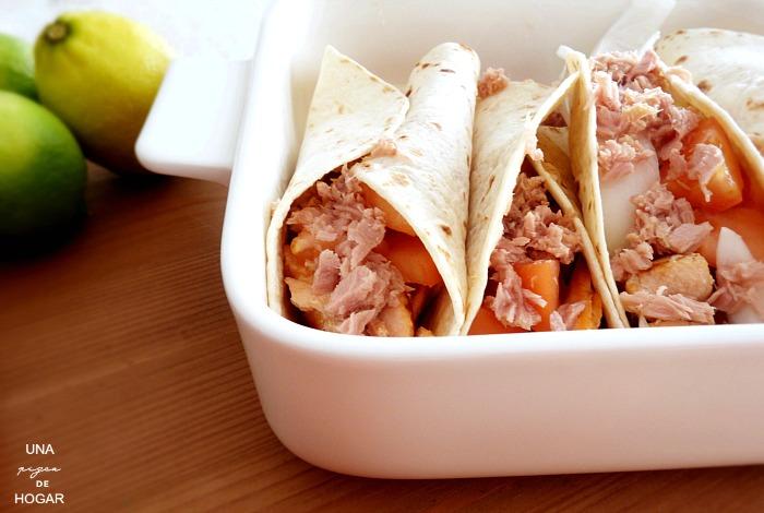 Fajitas de salmón- receta