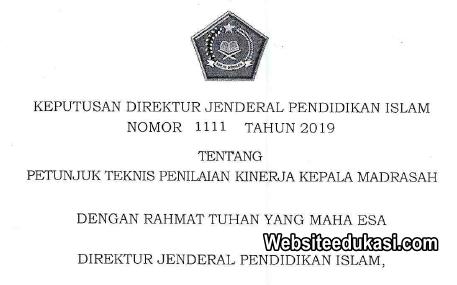Juknis Penilaian Kinerja Kepala Madrasah 2019