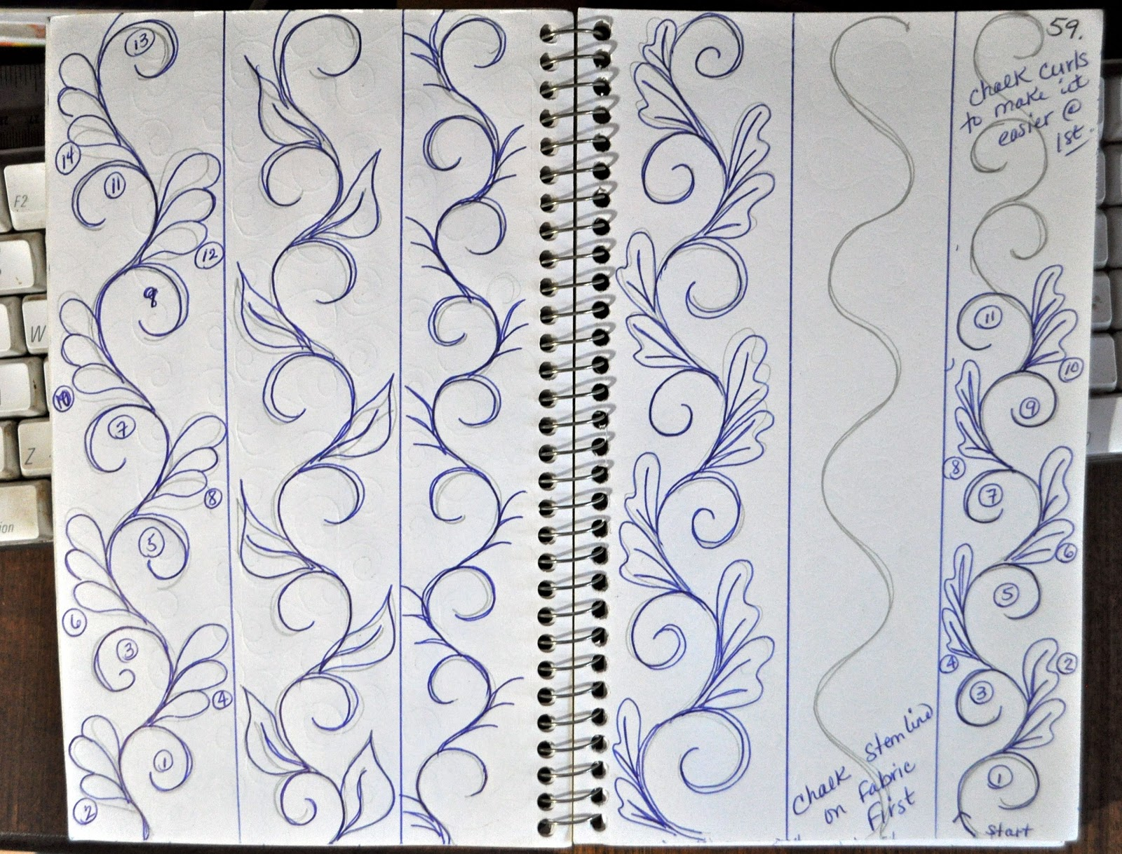 Luann kessi sketch book sashing designs for Quilting templates for borders