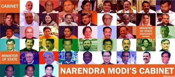 Cabinet Ministers Narendra Modi