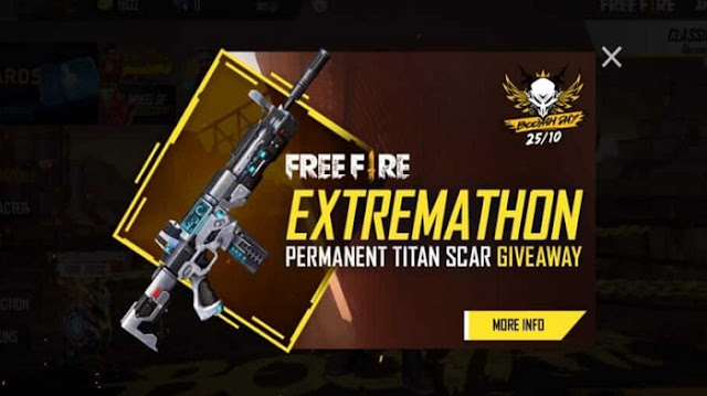 Kode Redeem Scar Titan Free Fire (FF) Terbaru