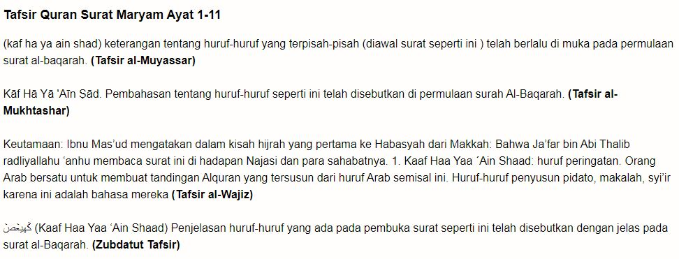 Bacaan Surat Maryam Ayat 1 Untuk Promil