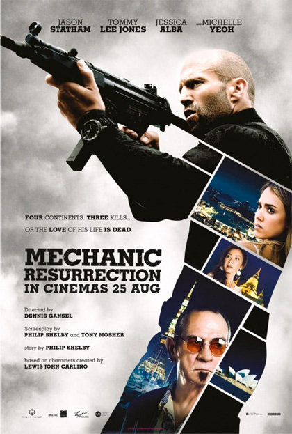 Mechanic Resurrection (2016) Dual Audio Hindi 300MB BluRay 480p x264 ESubs