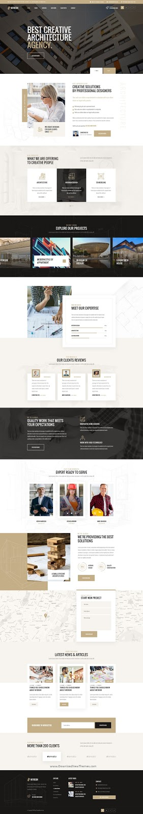 Download Architecture PSD Template