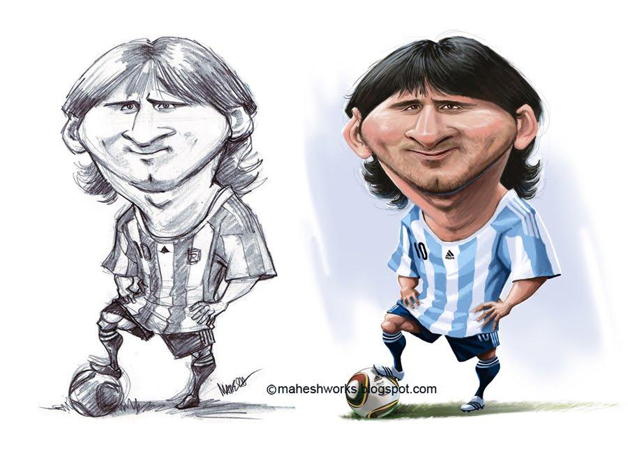 """Leo Messi"" por Mahesh Nambiar"