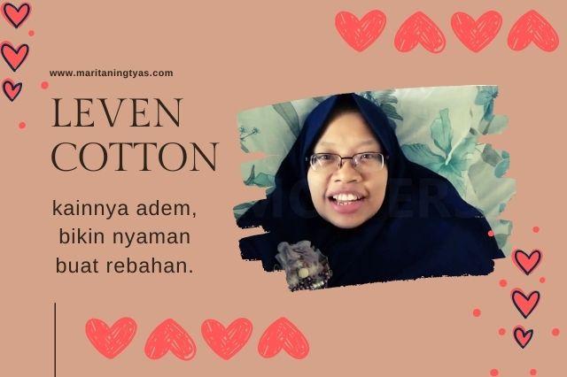 leven cotton nyaman dan adem