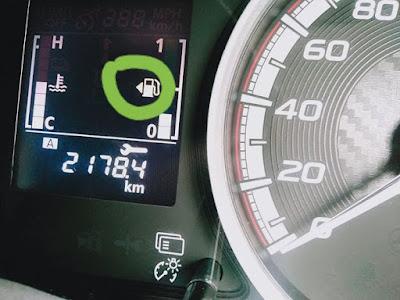 atri tanda panah pada indikator bahan bakar mobil
