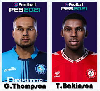 PES 2021 Faces Curtis Thompson & Tyreeq Bakinson by Shaft