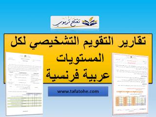 نموذج تقارير التقويم التشخيصي للمستوى الخامس عربية و فرنسية بصيغة word