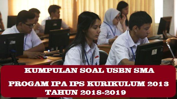 DOWNLOAD PDF KUMPULAN SOAL USBN SMA PROGAM IPA IPS TAHUN 2018 (K2013 DAN K2006) DAN PEMBAHASAN (PDF)