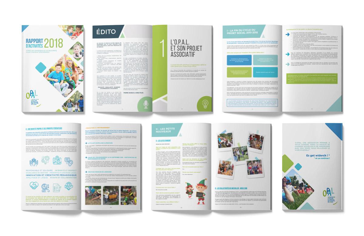 Création magazine, Rapport d'Activités OPAL