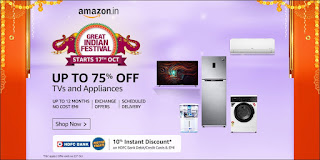 Amazon Great Indian Festival Sale TVs and Appliances
