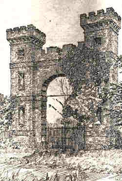 Sketch of 'Folly Gates', Brookmans Park, North Mimms by H.M Alderman
