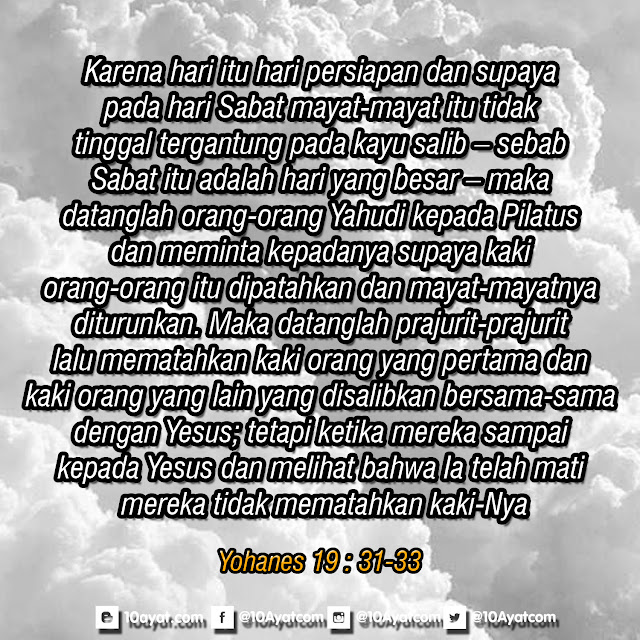 Yohanes 19 : 31-33