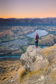 Remarkables, view, sunset, Lake Hayes, Queenstown