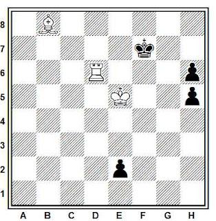 Estudio artístico de ajedrez compuesto por Hugh Blandford (5º recomendado, New Statesman 1971-72)