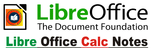 CCC Libre Office Calc Notes