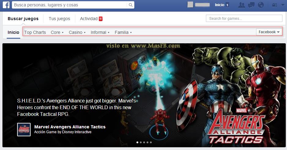 Juegos recomendados en Facebook - MasFB