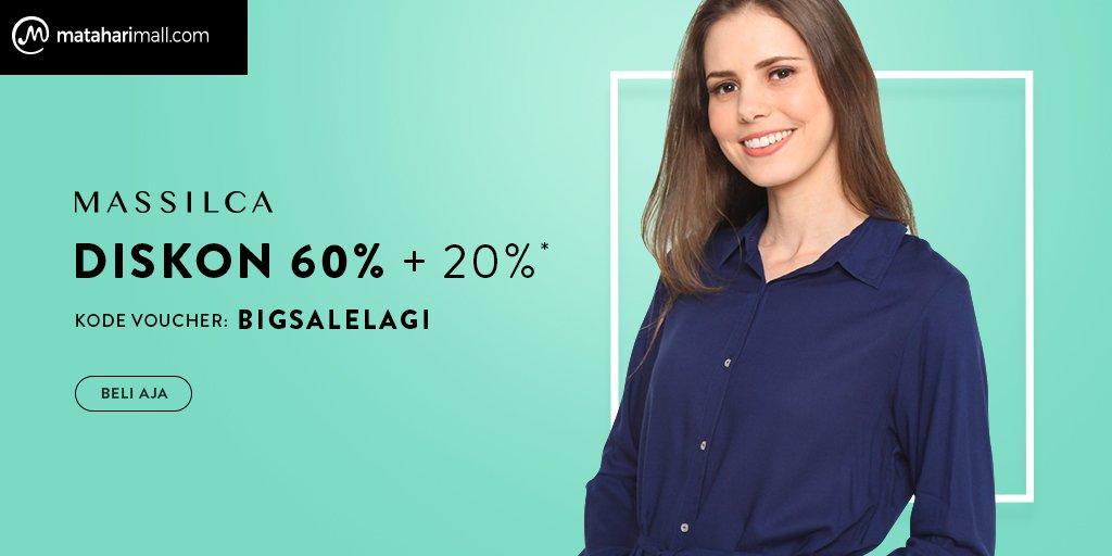 MatahariMall - Voucher Diskon Brang Massilca s.d 60% + 20%