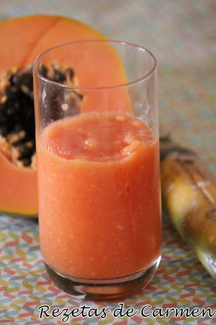 Smoothie de papaya y naranja