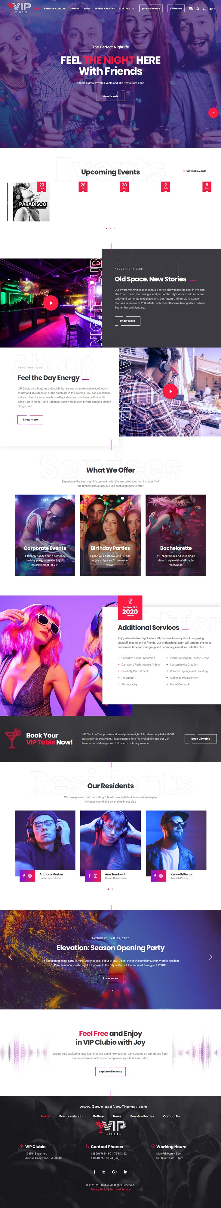 Club Premium WordPress Theme