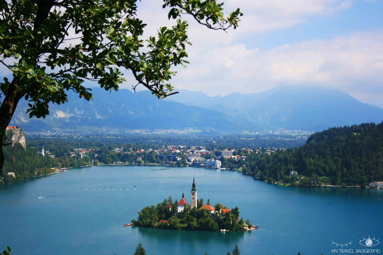 My Travel Background : cartes postales de Slovénie - Le lac de Bled
