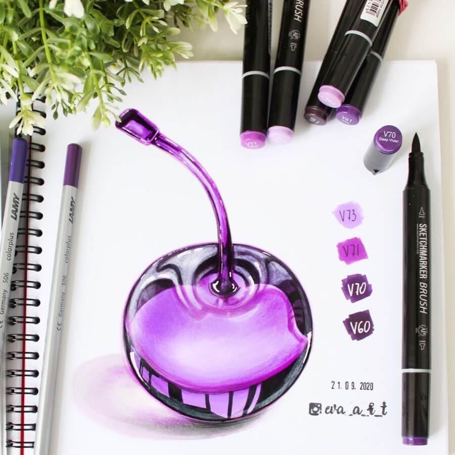 04-Purple-cherry-Eva-Art-www-designstack-co