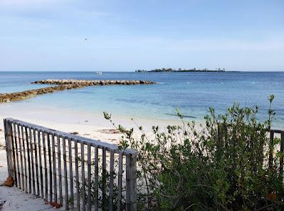 Sand fence along sea shore