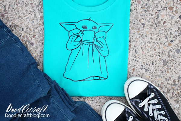 The Child Baby Yoda Svg T Shirt With Cricut Easypress 2