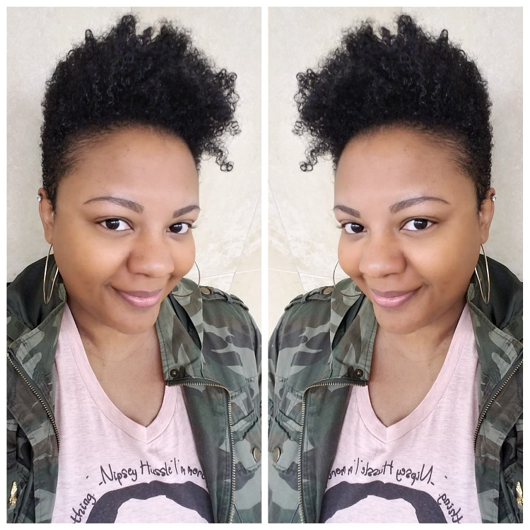 tapered cut on natural hair