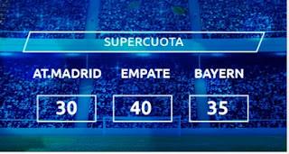 Mondobets Supercuota Atlético vs Bayern 1-12-2020