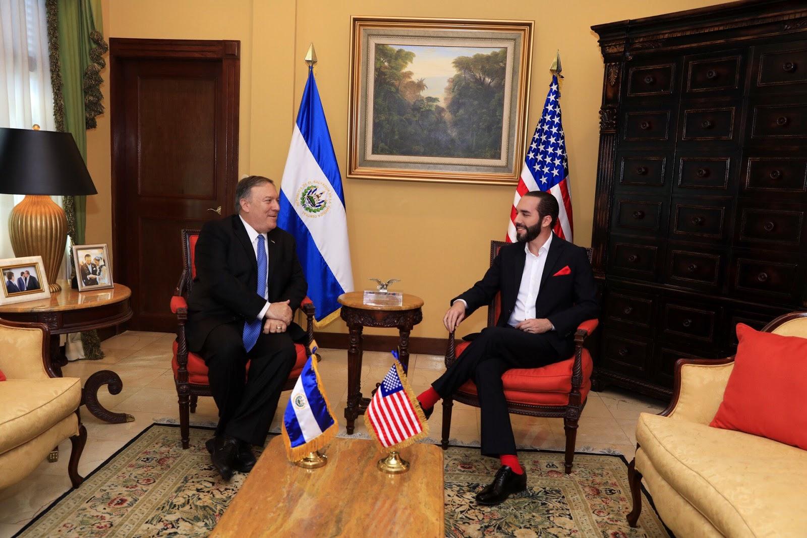 El Salvador y Estados Unidos acuerdan trabajar para mejorar la seguridad, el crecimiento económico y frenar la emigración