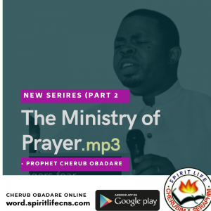 The Ministry Of Prayer Part 2 - Prophet Cherub Obadare