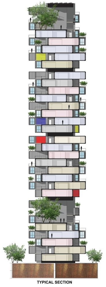08-Typical-Section-Ganti-and-Associates-Architecture-Recycled-Container-Skyscraper-Homes-www-designstack-co