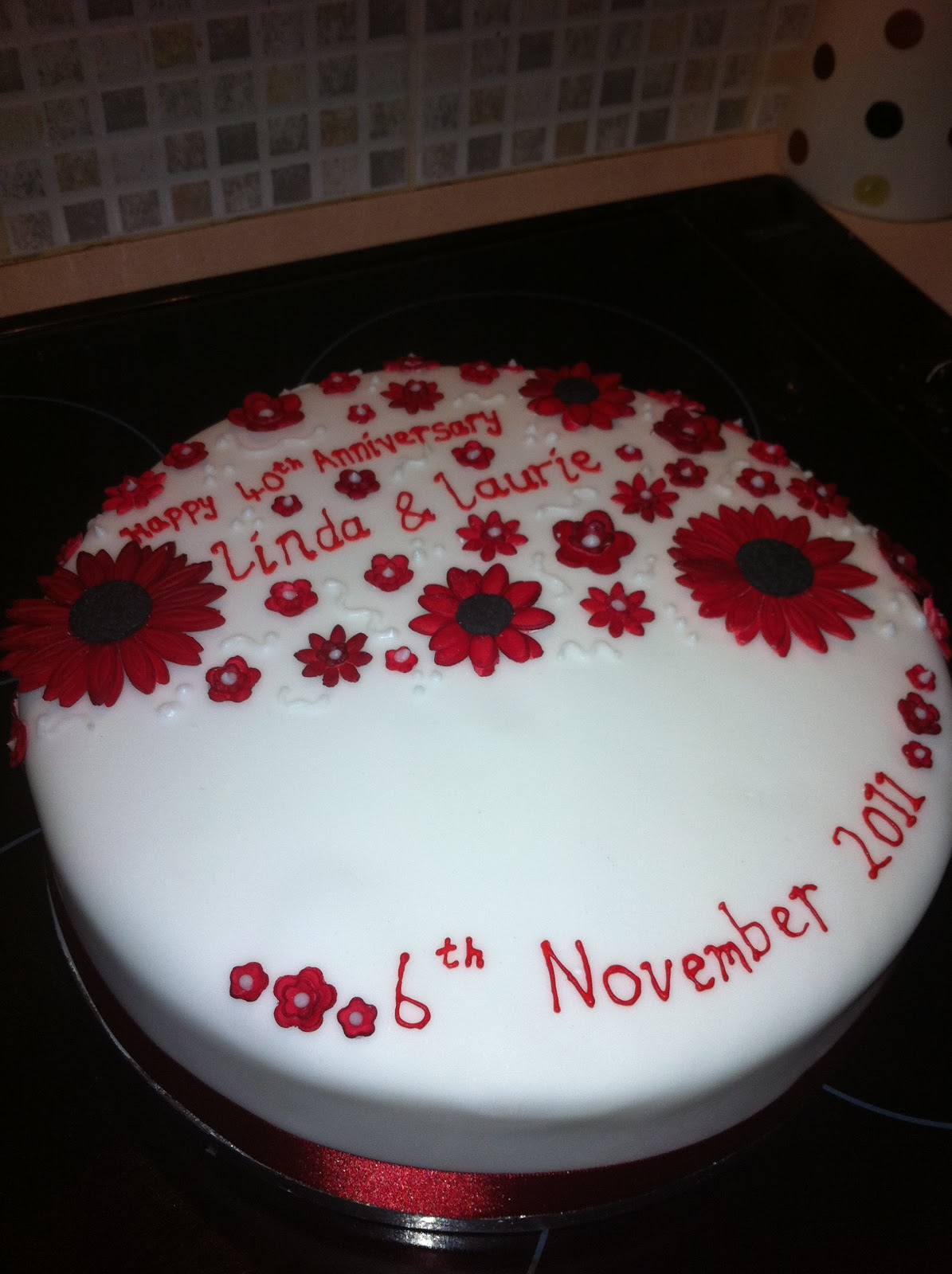 Jemmalina S Ruby Wedding Anniversary Cake 2