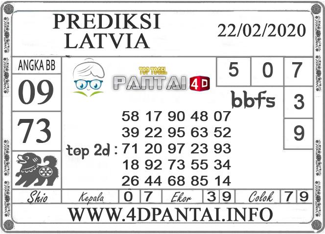 PREDIKSI TOGEL LATVIA PANTAI4D 22 FEBRUARI 2020