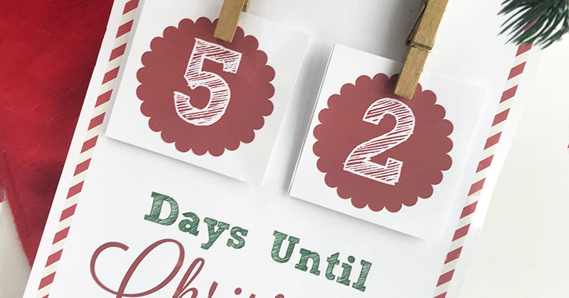 Free Christmas Countdown Printable Sign | Sunny Day Family