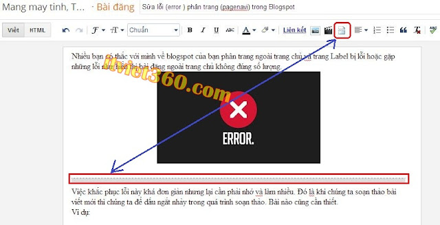 Sửa lỗi (error ) phân trang (pagenavi) trong Blogspot