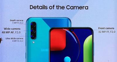 Triple Camera di Samsung Galaxy A50s