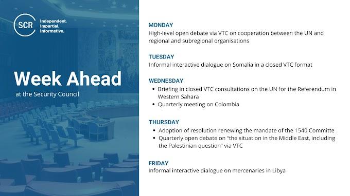 ⭕ ورد الآن |  مجلس الأمن الدولي يقرر جلسة مغلقة للمشاورات المتعلقة بالبعثة الأممية للإستفتاء والوضع في الجديد في الصحراء الغربية.