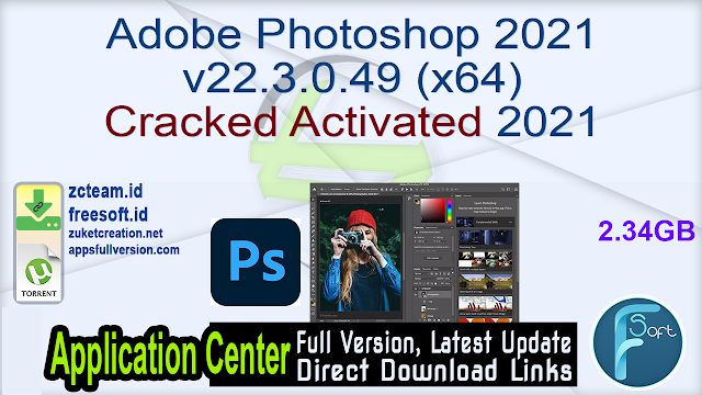 Adobe Photoshop 2021 v22.3.0.49 (x64) Cracked Activated 2021