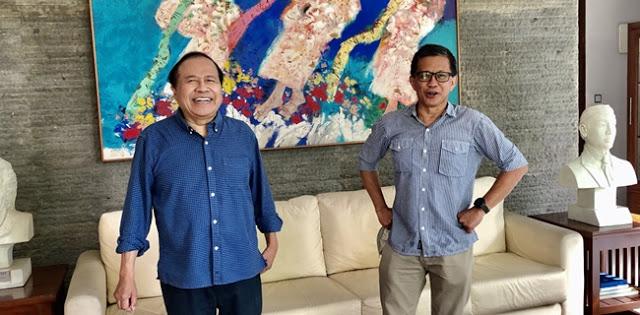 Foto Bareng Rocky Gerung, Rizal Ramli: Beliau Jauh Lebih Logis Dibanding yang Mengaku Profesor
